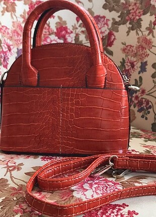 Defacto kiremit rengi el/kol çantası