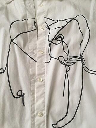 Koton marka, fil detaylı gömlek