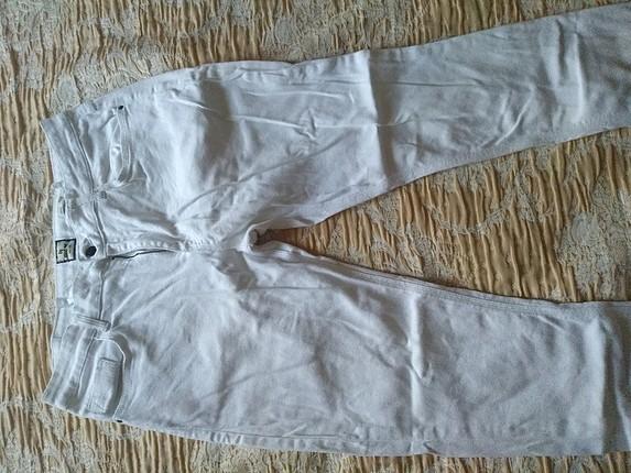 erkek beyaz pantolon kot