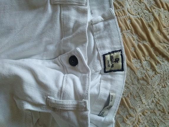 36 Beden erkek beyaz pantolon kot