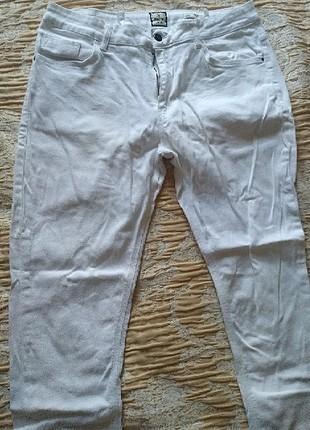 36 Beden beyaz Renk erkek beyaz pantolon kot