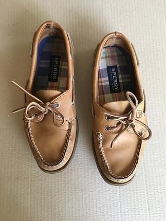 Sperry Deri Taba Ayakkabı