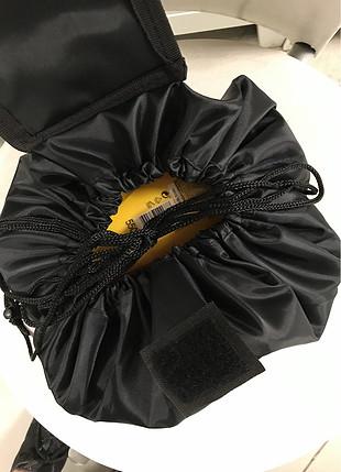 Büzmeli makyaj çantası