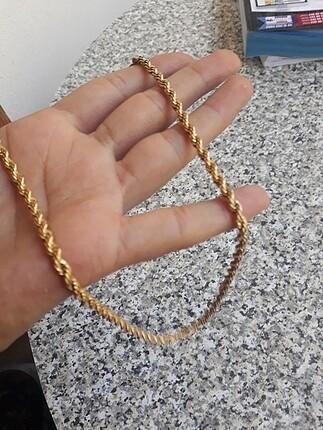 Altın kaplama kolye