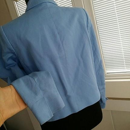 38 Beden mavi Renk orjinal mango ceket