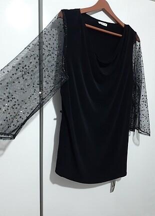 #javelin #abiye #bluz .beline kadife siyah kurdale ila kullanmış
