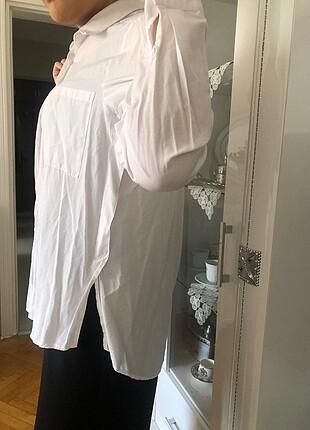 Beyaz lamelif gömlek