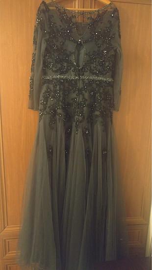 44 Beden siyah Renk Abiye elbise
