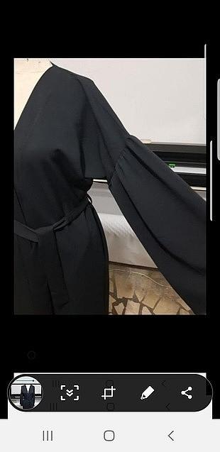 m Beden duble krep abaya