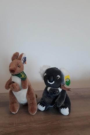 oyuncak kanguru ve koala