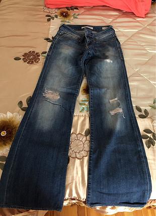 32 Beden mavi Renk Kot pantolon