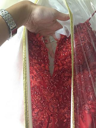 38 Beden kırmızı Renk Nişanlık / kınalık abiye