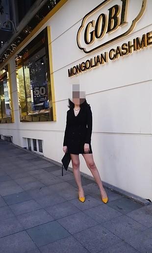 Bershka siyah ceket elbise