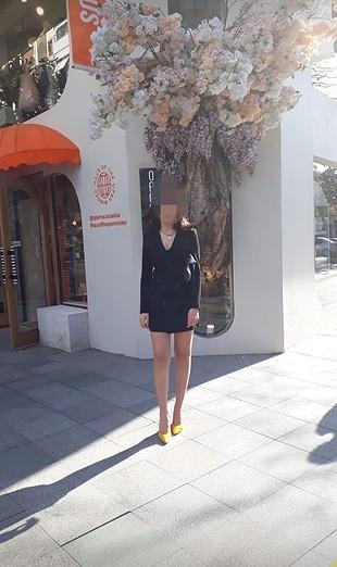 Bershka Bershka siyah ceket elbise