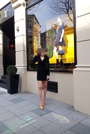 xs Beden Bershka siyah ceket elbise