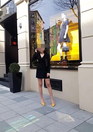 xs Beden siyah Renk Bershka siyah ceket elbise