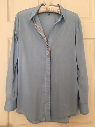 İpekyol açık mavi gömlek