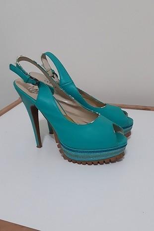 mavi platform ayakkabı