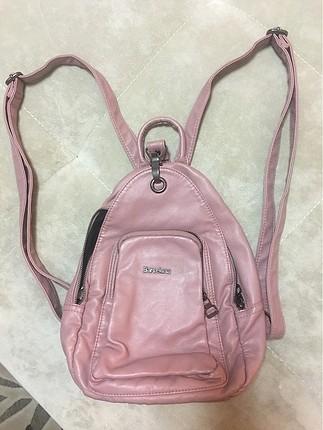 pudra rengi sırt çantası