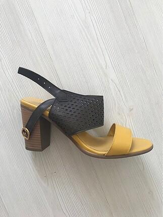Shoe tek hardal kahve ayakkabı