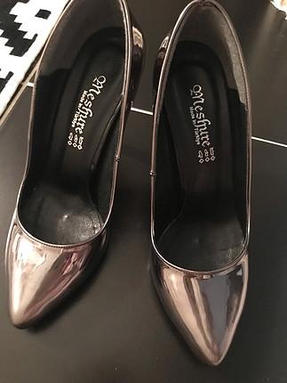 37 Beden gümüş Renk 37 numara gümüş topuklu ayakkabı