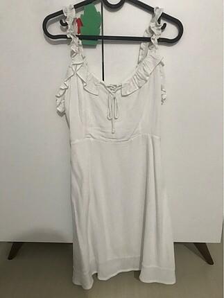 PULL&BEAR Mini Beyaz Elbise