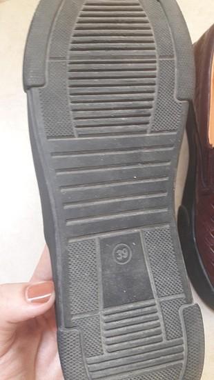 39 Beden bordo Renk bordo ayakkabı