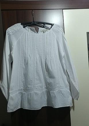 Beyaz kız çocuk Gömlek