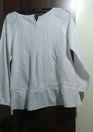 Massimo Dutti Beyaz kız çocuk Gömlek
