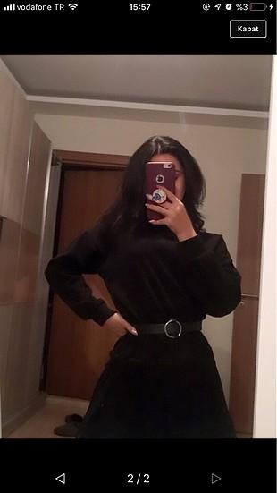 s Beden Hiç giyilmemiş siyah elbise