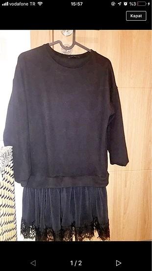 Mango Hiç giyilmemiş siyah elbise