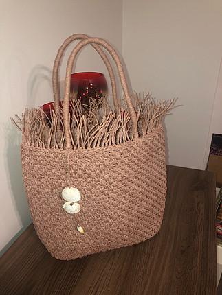 El örgüsü plaj çantası