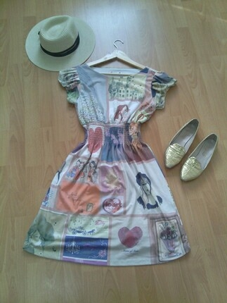 koton baskılı elbise