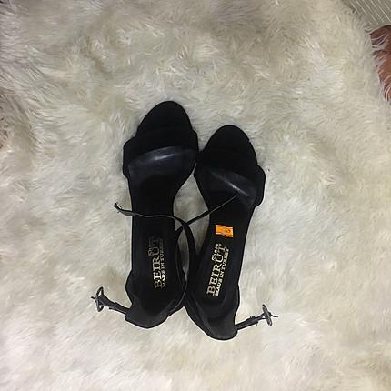 Süet 7,5 cm topuklu ayakkabı
