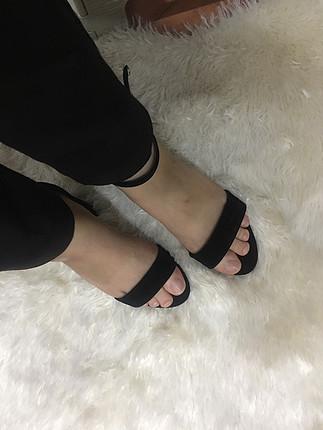 38 Beden Süet 7,5 cm topuklu ayakkabı