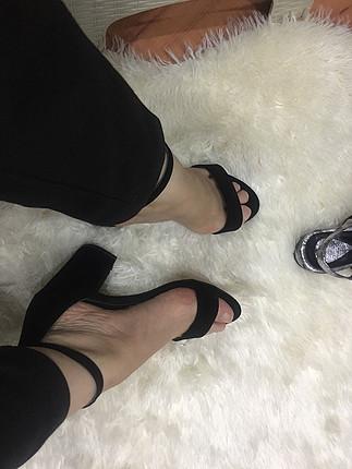 38 Beden siyah Renk Süet 7,5 cm topuklu ayakkabı