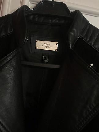 Mango Siyah deri ceket