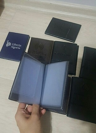 9 adet cüzdan ruhsat kabı