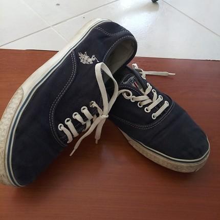 Polo lacivert keten ayakkabı