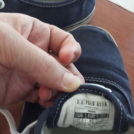 44 Beden Polo lacivert keten ayakkabı