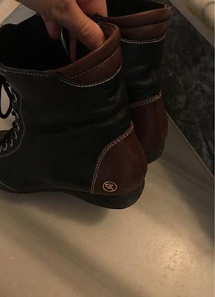 DSN Kahverengi kısa çizme