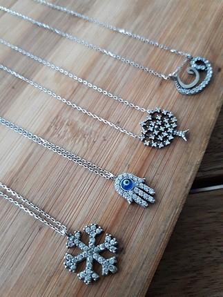 swarovski gerçek gümüş kolye
