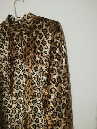 Vintage Love Leopar Desenli Bluz