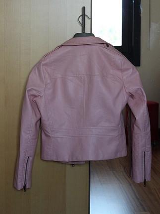 Pembe deri ceket