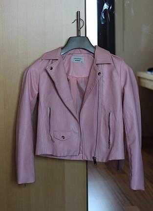 Zara Pembe deri ceket
