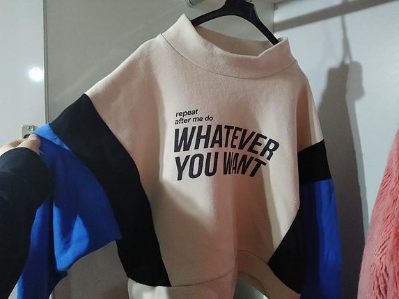 Zara whatever you want sweatshirt