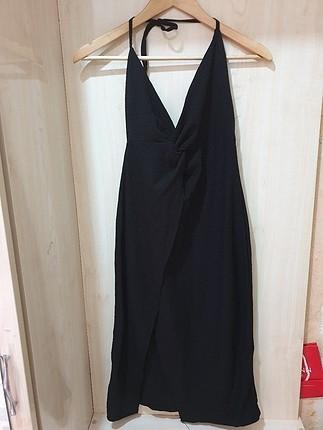 siyah askılı elbise s beden