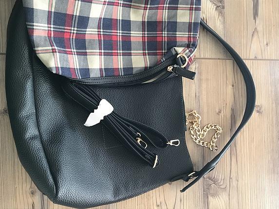 universal Beden Siyah kol çantası