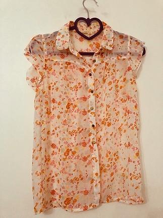 Xside LcWaikiki çiçek desenli kolsuz gömlek ????