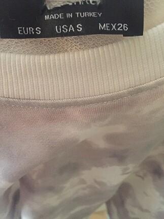 s Beden beyaz Renk Batik desenli sweatshirt